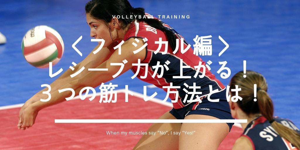 体を鍛えれば、バレーボールのレシーブ力は必ずアップする!3つの具体的な筋トレ方法とは!